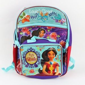 Disney Princess Elena 16 in Backpack w/ Lunch Box